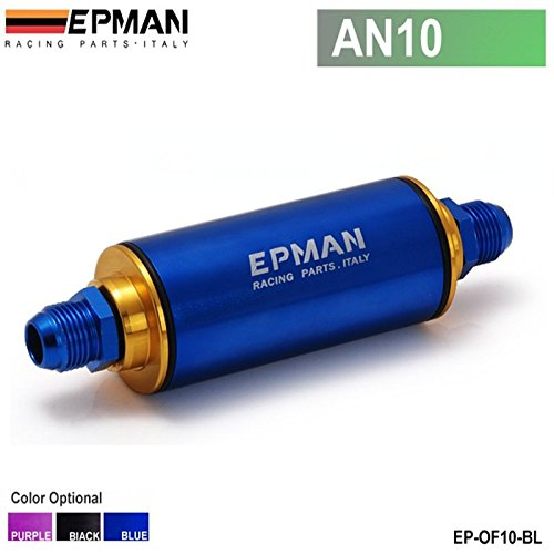 EPMAN AN10 Hi-Flow Motorsport/Rally/Racing Alloy Fuel Filter With Steel Filter (Blue) (Hi Flow Fuel Filter compare prices)