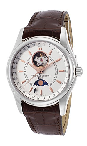Frederique Constant Index Moontimer Automatic Steel Mens Strap Watch FC-335V6B6