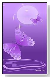 Purple Butterflies Password Log