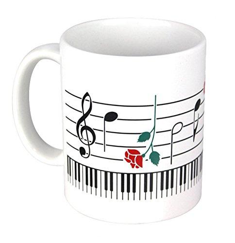 Tasse-Tastatur-Rosen-Schnes-Geschenk-fr-Musiker