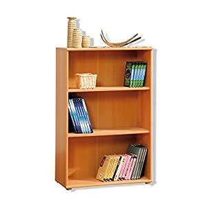 Tempra Short Narrow Beech Bookcase Bookshelf Home Office Furniture Uk Only