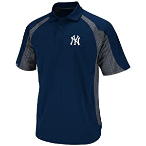 MLB Majestic New York Yankees Season Pass Polo - Navy Blue Charcoal by Majestic