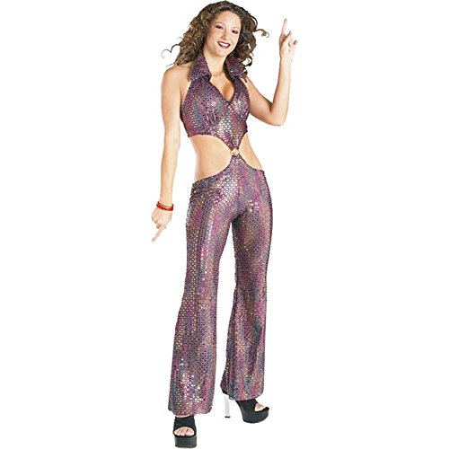 Sequin Disco Girl Costume Size: Women's Large 11-13