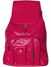 U LOVE Pink Non Leather Back Pack Bag.