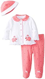 Little Me Baby-Girls Newborn Bunny Heart Take Me Home Set, Pink/Multi, Newborn