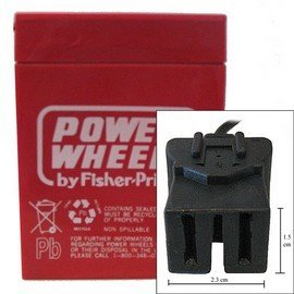 Power Wheels battery, 6 volt, Type A connector.