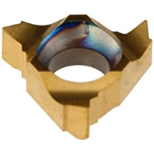 Dorian Tool 11IR PVD-TiN Coated Carbide Laydown Internal Threading Insert, Right Hand Cut, General Purpose Chip Breaker for Non-Ferrous Metals, V Thread, 16-48 TPI (Pack of 10)