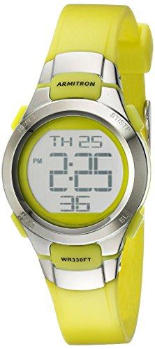 Armitron Sport Women's 45/7012LGSV Watch with Green Resin Strap