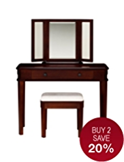 Sutton Dressing Table, Mirror & Stool Set