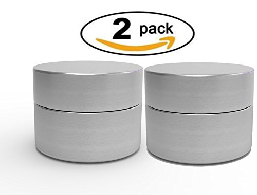 Herb Stash Jar | 2 Solid Aluminum Airtight Smell Proof Containers #1 Best WayTo Preserve Herbs Tobacco & Spices (Cookies Grinder Weed compare prices)