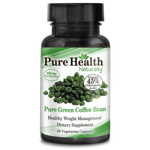 2 Pack Pure Health Naturally Pure Green Coffee Bean
