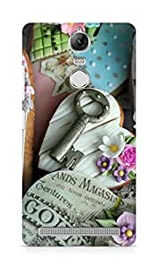 Amez designer printed 3d premium high quality back case cover for Lenovo K5 Note (Hearts cookies gifts holiday love keys)