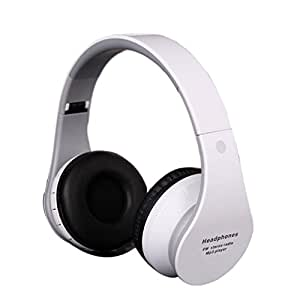 Tengreen Wireless Bluetooth Hands-free /Handsfree Stereo Foldable Headset Headphones with Micphone Mic for Iphone Galaxy HTC Samsung Ipad Pc (White)