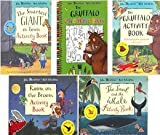 Julia Donaldson Gruffalo Activity Collection 5 - Books Set (The Gruffalo Activity Books,The Gruffalo Colouring Book, The Snail and the Whale,The Smartest Giant in Town,Room on the Broom)