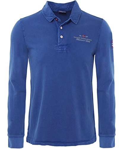 Napapijri ELBAS Long Sleeve Polo Shirt L Potenza