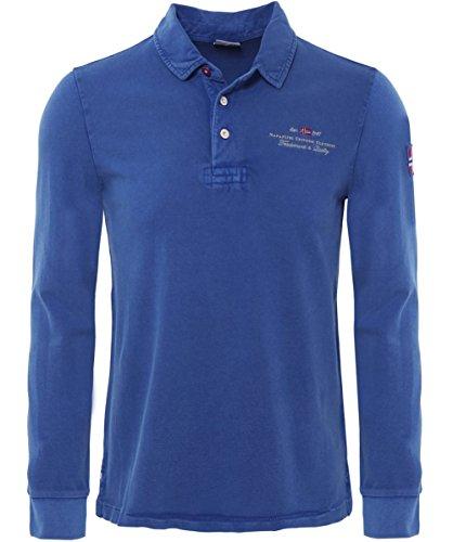 Napapijri ELBAS Long Sleeve Polo Shirt XXL Potenza