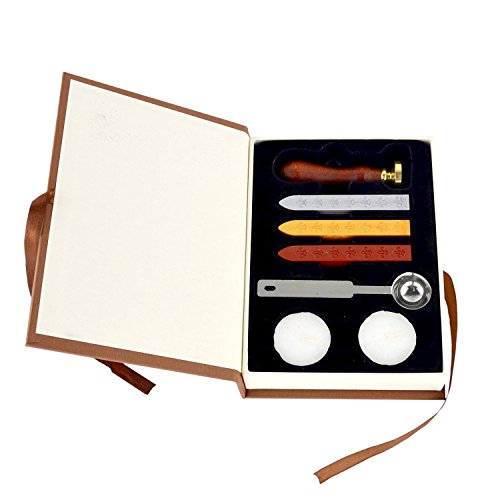 Wax Seal Stamp Kit Sunsbell Stamp Seal Sealing Wax Set - School Badge (Seal Wax Set compare prices)
