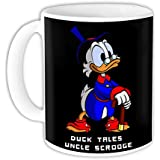 "Raksha Bandhan Gift For Brother Or Sisters ""Duck Tales Uncle Scrooge"" Printed White Ceramic Mug"