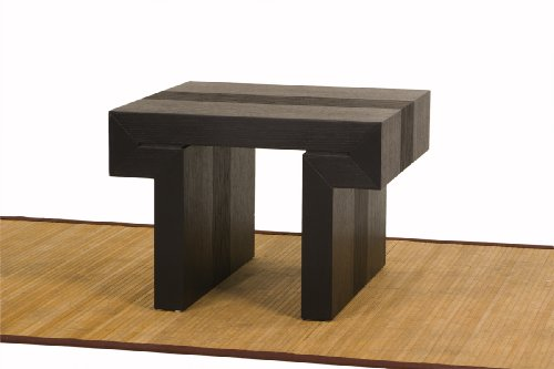 Image of Diamond Sofa Low Profile Square End Table, Dark Walnut (l0729d)