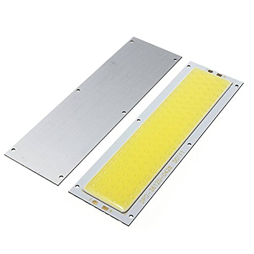 GLISTENY 2Pack 10W COB SMD LED Bead Strip Lamp Chip Light Rectangle Shape Bulb 1000LM Warm/Pure White for DIY DC 12V Warm White (Slim Led Light Strip compare prices)