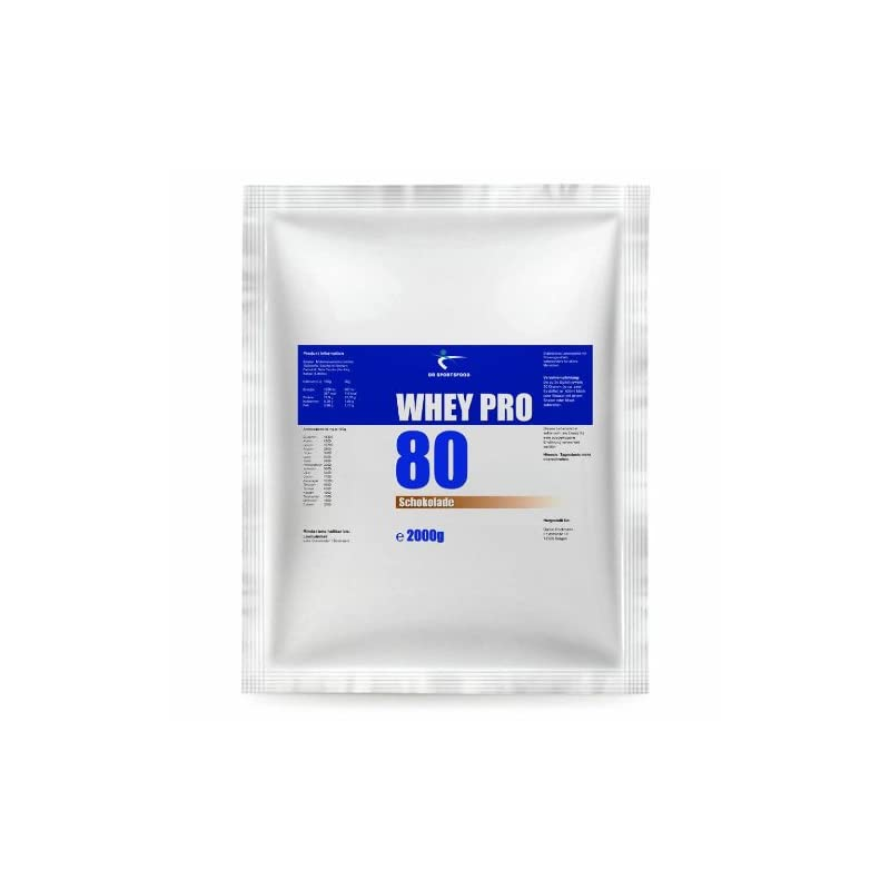 DR Sportsfood Whey Pro 80 Chocolate- 2000 g- 2 kg- Powder- Sports Nutrition- Protein Shake