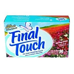 C-Final Touch Spring Fredryer Sheets, 6/80Ct