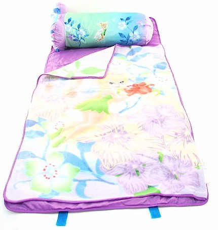 More image Tinkerbell Kid's Slumber Pal Nap Mat & Pillow Purple 2 in 1 Combo Set