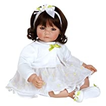 "Big Sale Adora Baby Doll 20"" White Daisies (Dark Brown Hair/Blue Eyes)"