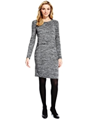 M&S Collection Space-Dye Jumper Dress