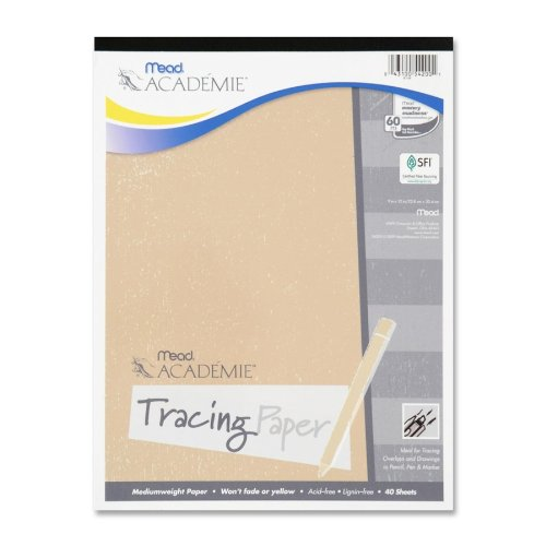 MeadWestvaco - Tracing Paper, Fade-Resistant, 9x12, 40 Sheets, Sold as 1 Each, MEA 54200