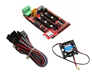 RioRand(TM) 3D Printer kits-RAMPS 1.4 shield for Mega2560 +SD RAMPS Reader Module + Cooler Cooling Fan + Cables / Wires for Reprap Prusa Mendel Makerbot
