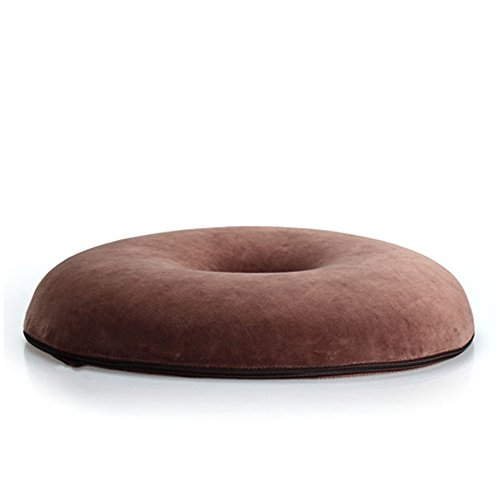 Love Home High Quality Memory Foam Ring, Donut, Or Doughnut Cushion Coccyx Orthopedic Cushion Hemorrhoid Cushion With Very Soft And Good Permeability Velvet Cushion Cover, Really Help Relief Tailbone, Back Hemorrhoid Pain, Work Well On Couch, Chairs, Car