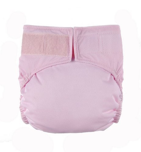 Baby Pink Velcro Easy Clean One Size Pocket Cloth Diaper by Mommy's Touch - 1