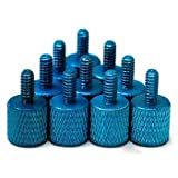 Blue Anodized Aluminum PC Case Thumbscrews (Pack of 10)
