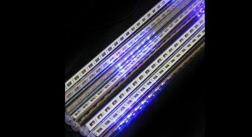 12-Led 20Cm Meteor Shower Tube Lights For Wedding / Christmas Party-12-Led, 20Cm, 8-Tube, Blue Light - (Premium Quality)