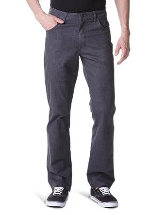 Wrangler - Pantalon - Coupe Droite - Stretch - Homme - Noir (Black) - FR : W33/L30 (Taille fabricant : W33/L30)