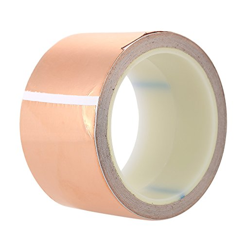 ammoon-6cm-10m-copper-foil-tape-one-side-single-conductive-self-adhesive-emi-shielding-screening-slu