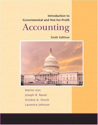 Introduction to Government and Not-for-Profit Accounting...