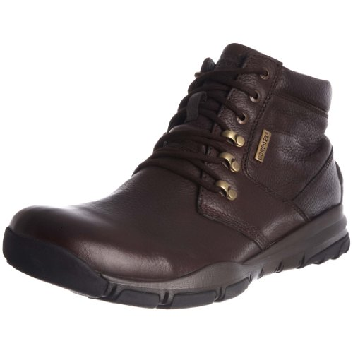Hush Puppies Men's Rawls DK Brown WP Leather Lace Up Boot H1318002W 8 UK