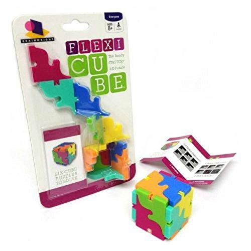 Flexi Cube 3-D Bendable Stretchy Brain Teaser Fidget Fiddle Puzzle