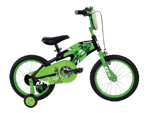Kawasaki Mono Boys 16- Inch Bike, Black/Green