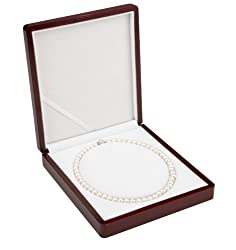 AAA 7.5-8mm White Freshwater Cultured Pearl Necklace 18in Princess