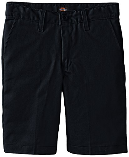Dickies Khaki Big Boys' Flex Waist Stretch Flat Front Short, Dark Navy, 8