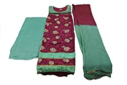 Alankar Textiles Panjabi Suit Piece Maroon Color Cotton Dress Material
