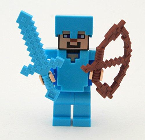 LEGO Minecraft Steve with Diamond Armor and Sword (Minecraft Figures Diamond Steve compare prices)