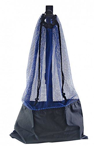 BLUE SNORKEL BAG! MESH DRAW STRING W/ SHOULDER STRAP