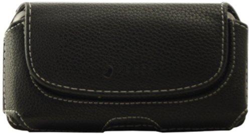 Mocca Design ER4S03 Schutzhülle mit Gürtelschlaufe für iPhone 4 / 4S, Schwarz