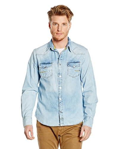 MELTIN'POT Camicia Uomo Carey [Denim Chiaro]