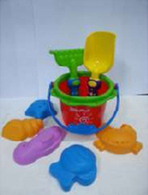 Sand Toy Set - Bucket, Shovel, Rake, and Sea Critter Molds, 8 Piece Colorful Compact Kit, Perfect for Beach, Water, Sandbox or Sand Table, by Dazzling Toys
