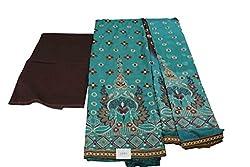 Alankar Textiles Panjabi Suit Piece Firozi Color Cotton Dress Material